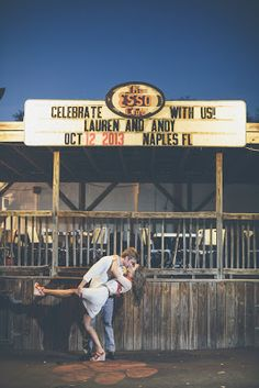 This is adorable. Clemson wedding theme.... Cute wedding announcement picture ;)