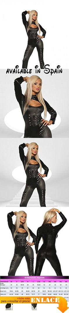 B06XXXY7KY : luxury & good Dessous - Peto - para mujer negro L/XL.
