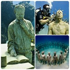 Jason de Caires Taylor's underwater sculpture garden, Saint Georges, Grenada.