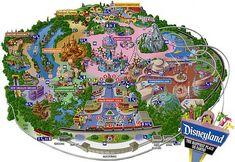 disneyland california | Disneyland Los Angeles Park Map Latest 2012