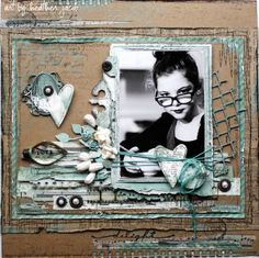 Delight...striking tan and teal color palette with great details.Love these colours with a black and white photo.