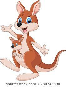 Cartoon red kangaroo carrying a cute Joey. Cute Cartoon Pictures, Cute Animal Pictures, Cute Images, Cartoon Images, Kangaroo Care, Red Kangaroo, Baby Animal Drawings, Happy Paintings, Diy Canvas Art