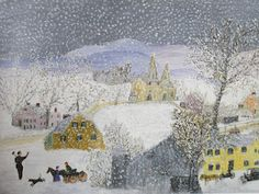 """""""Get Out the Sleigh"""" 1960, Grandma Moses"""
