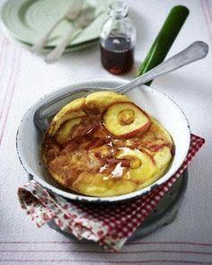 Apfel-Speck-Pfannkuchen mit Ahornsirup Rezept