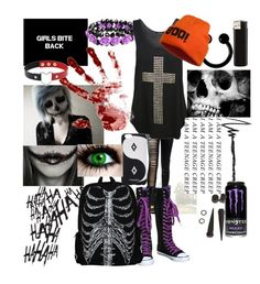 """""""Girls bite back"""" by maddhatterx ❤ liked on Polyvore featuring PUR, WearAll, Marcelo Burlon and Thinkoftheuniqueones"""