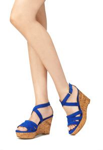 JustFab practical wedges in a non neutral color