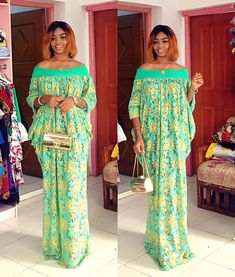 🥰🥰🥰 luxury off shoulder new release🔥🔥 comes with the turban and inner Nigerian Dress Styles, Best African Dresses, Ankara Gown Styles, Latest African Fashion Dresses, Ankara Dress, African Print Fashion, African Attire, The Dress, Fashion Outfits