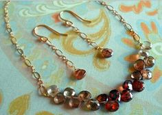 Ombre Briolette Necklace and Earrings | AllFreeJewelryMaking.com