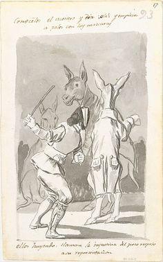 *Masquerading Asses* Goya (Francisco de Goya y Lucientes)  (Spanish, Fuendetodos 1746–1828 Bordeaux)