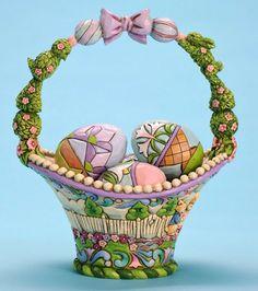 Welcome Spring Jim Shore Easter Basket