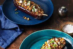 Eggplant with Lentils and Goat Cheese  recipe