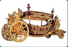 18th Century (1716) Triumphal vehicle.  Italian work, made in Rome.