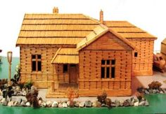 Wyndham House made out of matchsticks
