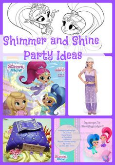 Shimmer and Shine Birthday Party Ideas and Supplies... Plenty of ideas for decorations, cake, invitations, favors, food, games and more.