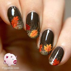 Instagram / narmai fall nail art design