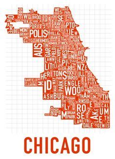 Chicago!  #Chicago #Typography #Map
