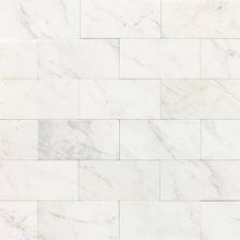 """Fireplace? Kitchen?  View the Daltile M313-361L Marble Contempo White 6"""" x 3"""" Polished Stone Multi-Surface Tile at Build.com."""