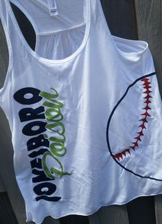 Baseball or softball flowy Team tank available in Womens and girls sizes.