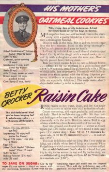 Raisin Cake and Oatmeal Cookies WW II war rations / recipes Retro Recipes, Old Recipes, Vintage Recipes, Cookbook Recipes, Cooking Recipes, Homemade Cookbook, Recipies, Cookbook Ideas, Blender Recipes