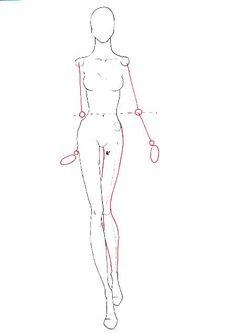 How to draw fashion figure walking for fashion design
