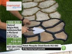 Do-It-Yourself Cobblestone-Look Walkway Molds from Pathmate - YouTube
