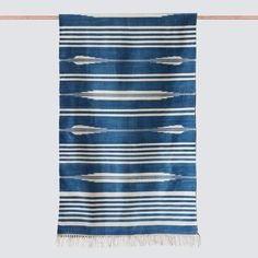 We partner with artisans to create modern goods for the well-traveled home. Hallway Rug, Sheep Wool, Modern Rugs, Wood Colors, Soft Furnishings, Rug Runner, Hand Weaving, Artisan, Indigo Blue