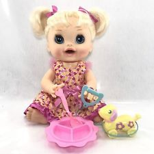Hasbro Baby Alive Real Surprises Doll Blonde Blue Eyes 2012 English Spanish Baby Alive, Blue Eyes, Tutu, Baby Dolls, Spanish, Teddy Bear, English, Board, Party