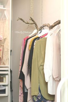 You'll Want to Copy This Blogger's DIY Tree Branch Clothing Rack