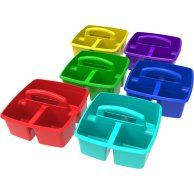 6 pack Classroom Art and Supplies Large Caddy, multiple color options - Walmart.com