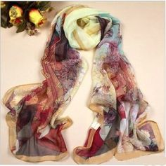 Wisedeal 1pc Elegent Fashion China Ancient Beauty Style Long Georgette Silk Shawl Scarf Scarves for Women Girl Free Ship From Hongkong by Wisedeal. $9.99