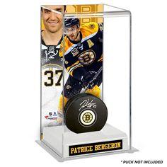 Patrice Bergeron Boston Bruins Fanatics Authentic Deluxe Tall Hockey Puck Case