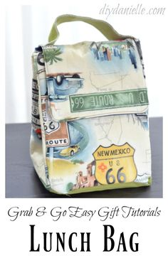 How to sew a lunch bag without a zipper!