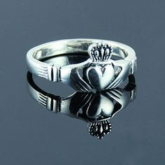 Irish Celtic Unisex Claddagh CLADDAUGH Ring by 925silvertreasures, $29.99
