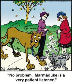 Marmaduke Comic Strip  for Dec/13/2014 on GoComics.com