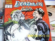 "MARVEL COMICS ""DEATHLOX"" ONE AUTOGRAPHED  DENY COWAN  3 COMICS THE PUNISHER"