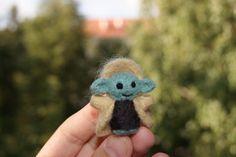 Gefilzte Star Wars Yoda, Filz, Naturwolle Spielzeug, Nadel Gefilzte Spielzeug, Spielzeug, Yoda-Spielzeug