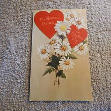 . Vintage Valentine Cards, Vintage Cards, Special Person, Valentines Day, Daisy, Hearts, Valentine's Day Diy, Margarita Flower, Special People