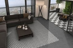 Buy Windmill Geometric Wall & Floor Tile tiles from Tons of Tiles with Next Day UK Delivery, Samples Available from only inc P&P. Outside Flooring, Patio Flooring, Garden Tiles, Patio Tiles, Sloped Garden, Geometric Tiles, Vintage Tile, Style Tile, Windmill
