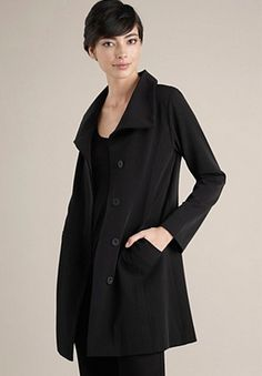 Eileen Fisher raincoat - everything she does is so perfectly simple