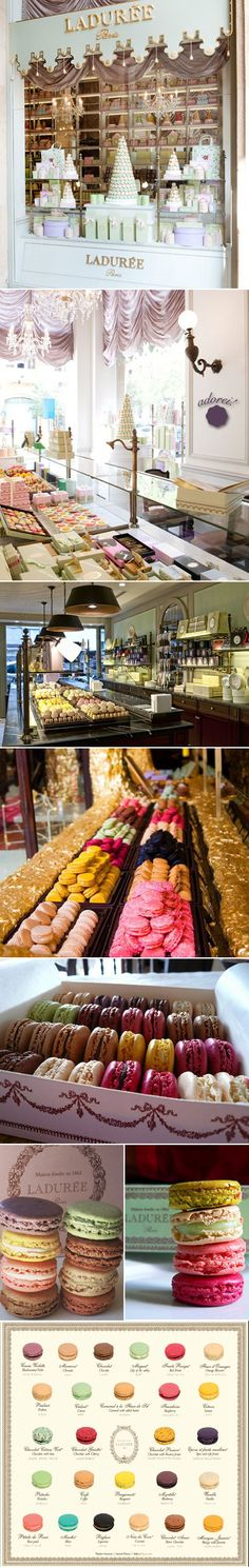 Laduree macaroons in Paris.... Little taste of heaven. I mean the store is pretty and all but way over priced