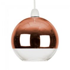 Large Modern 'Daelim' Copper Dome Glass Shade