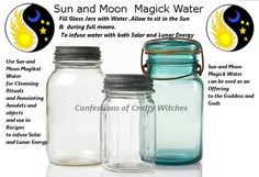 Magick Spells:  Sun and Moon #Magick Water.