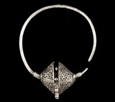 Medieval Serbian silver earring, 12th century, excavated at Hum site, near Niš, south-eastern Serbia