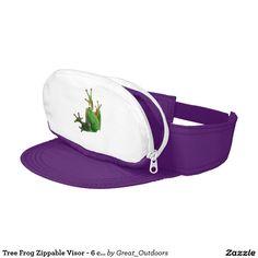 Tree Frog Zippable Visor - 6 colors