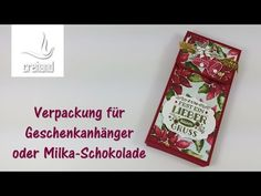 Verpackung für Milka-Schokolade oder Geschenkanhänger mit Stampin' Up! - YouTube