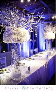winter wedding centerpieces oh brides wedding magazine winter wonderland wedding decorations Winter Wedding Receptions, Winter Wedding Centerpieces, Wedding Table Decorations, Winter Weddings, Centerpiece Ideas, White Centerpiece, Winter Decorations, Wedding Tables, Reception Table
