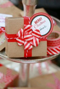 washi tape makes this present look stunning #washi tape