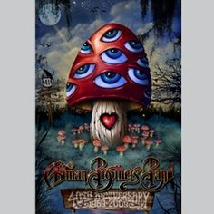 Original beautiful lenticular concert poster for The Allman Brothers anniversary in This is a lenticular poster. This is an amazing poster and must be seen to be believed! 12 x 18 inches. Hand-Signed by the artist Jeff Wood. Rock Posters, Band Posters, Concert Posters, Music Posters, Allman Brothers, Blue Poster, Mushroom Art, Vintage Rock, 40th Anniversary