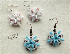KIKI beads: Dalat earring pattern (Hungarian)