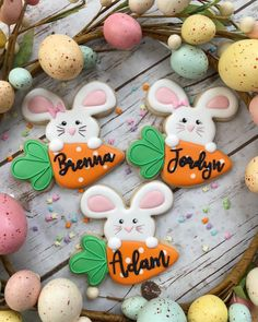 Easter cookies are coming!!   These personalized bunnies will make the perfect addition to your child's Easter basket! I've had this…